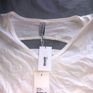 White open back shirt